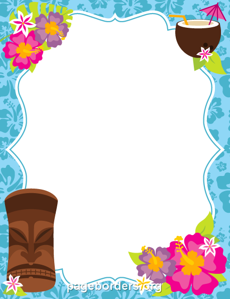 photograph regarding Printable Luau Invitations called Pin via Muse Printables upon Website page Borders and Border Clip Artwork
