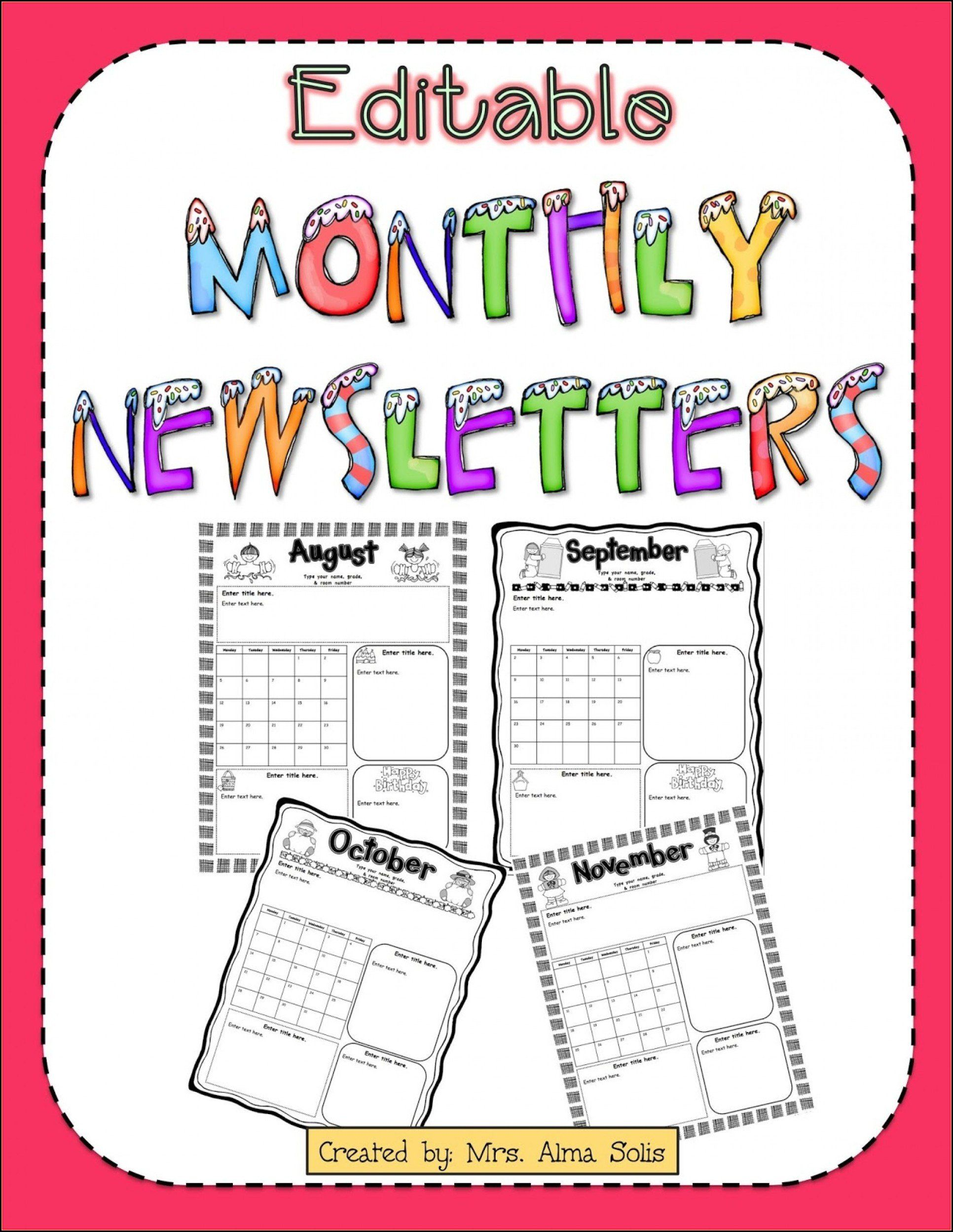 Free Newsletter Template For Preschool from i.pinimg.com