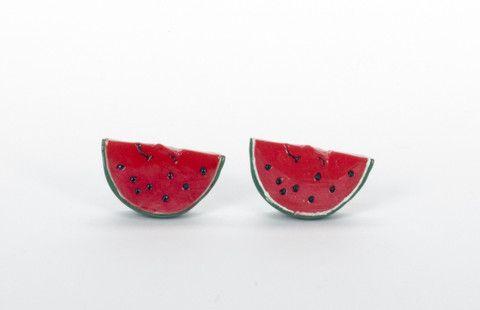 Acrylic Watermelon Earrings