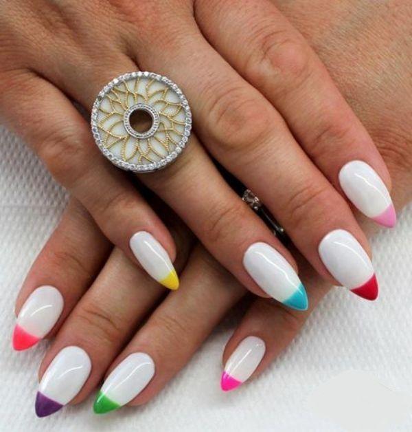 Cute Almond Nail | Glamour nails, Cute almond nails, Les nails