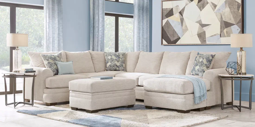 Copley Court Parchment 2 Pc Sectional Rooms To Go In 2020 Living Room Sets Furniture Living Room Sectional Furniture