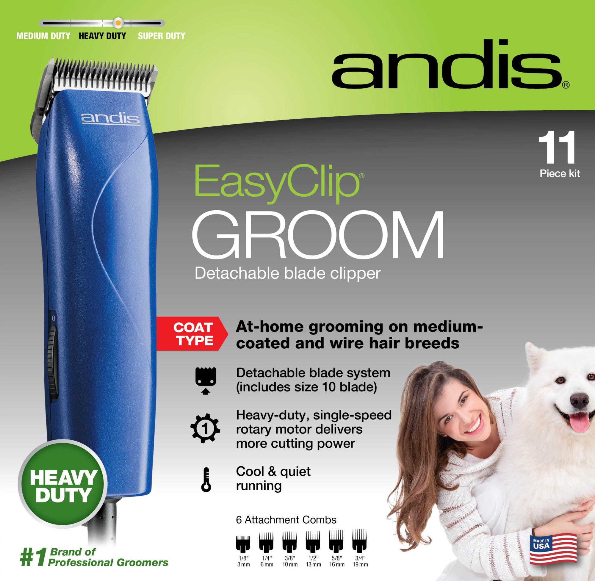 Andis Easy Clip Groom Clipper Kit For Dogs Dog Grooming Pet
