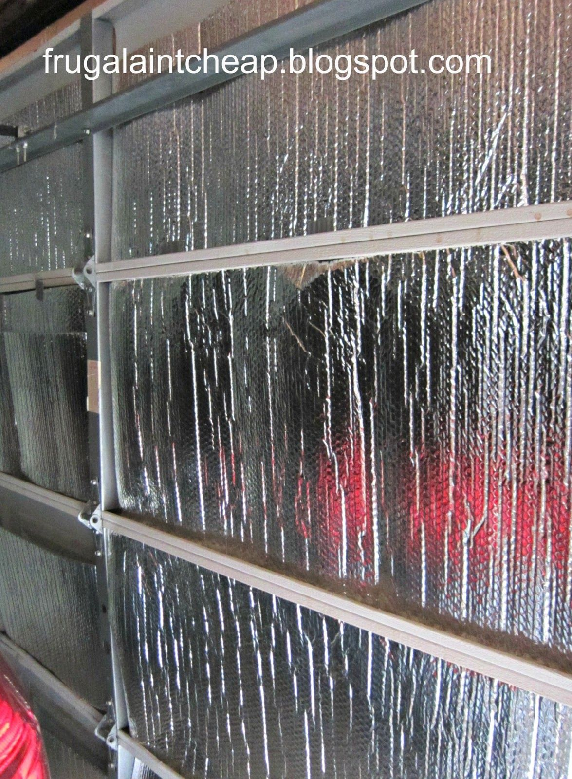 Insulate A Garage Door Cheap Diy To Save On Heating Cooling Costs