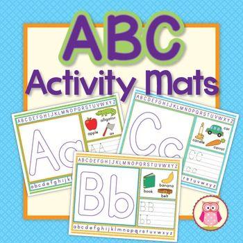 Alphabet Play Dough Mats Activity Mats: Multi-sensory ABC Activity ...