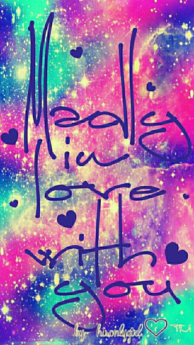 Madly in love galaxy wallpaper I created for the app CocoPPa. – Galaxy Art