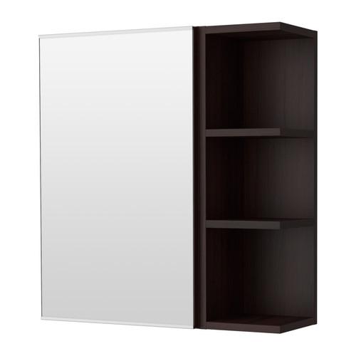 Ikea lill ngen armario espejo 1 puerta balda negro - Ikea banos armarios ...