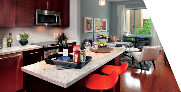 The Kitchen In The Avenue Apartments In Dc Kitchen Interior Apartment Living Dc Apartments