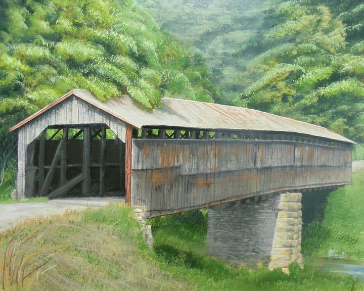 This Is The Mt Zion Covered Bridge In Washington County Over