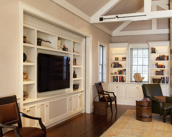 Entertainment Center Family Room Design Ideas Pictures Remodel Decor Built In Tv Cabinet Interior Traditional