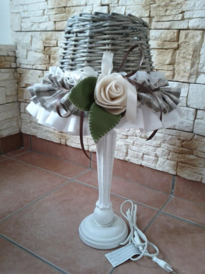 Paralume in stile country shabby chic ho abbinato anche for Lampade stile country