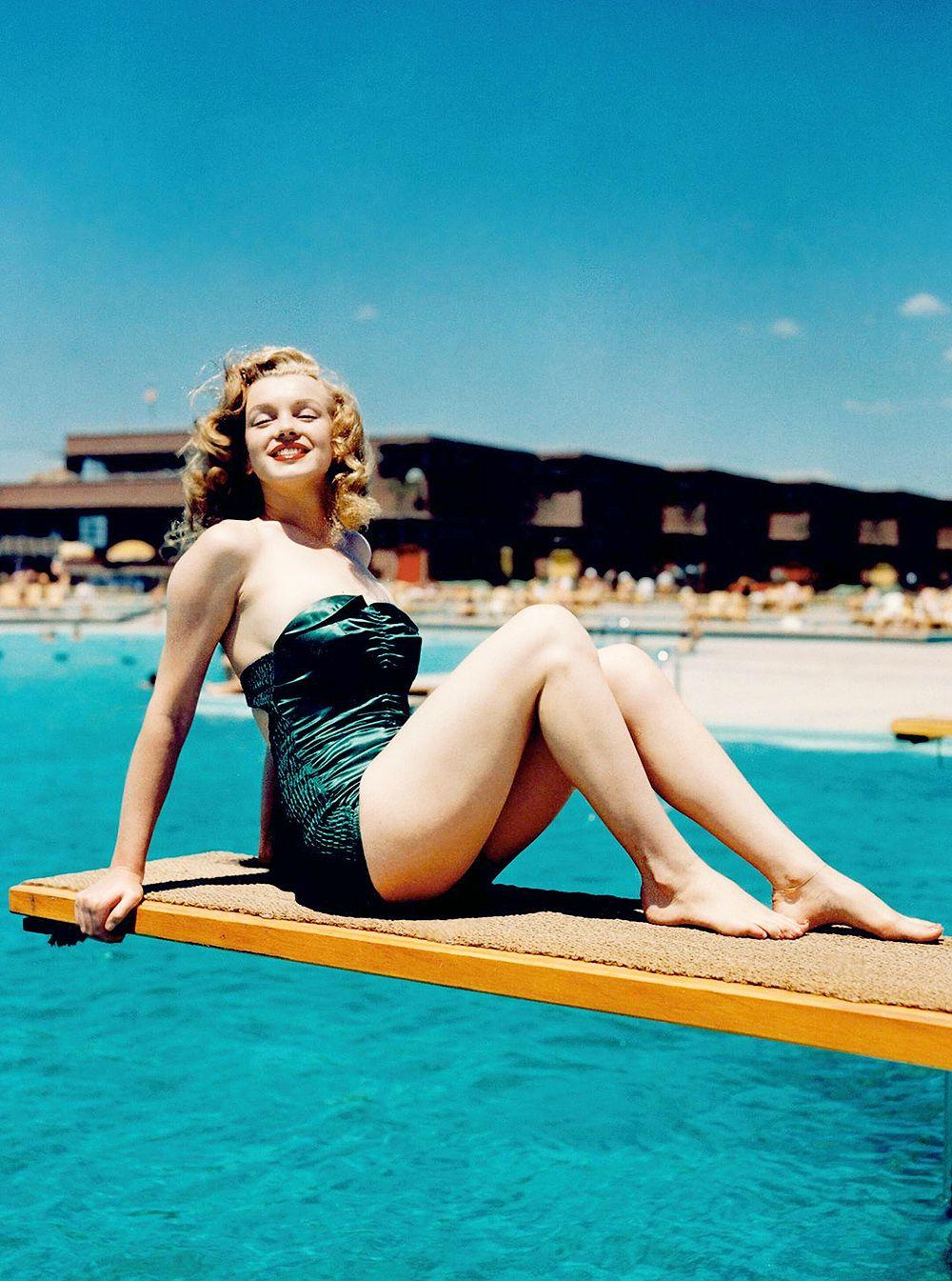 Vintage Color Camera Transparency Of Marilyn Monroe By Arthur Fellig Color  In Camera Transparency On Kodachrome Safety Film Of Marilyn Monroe By