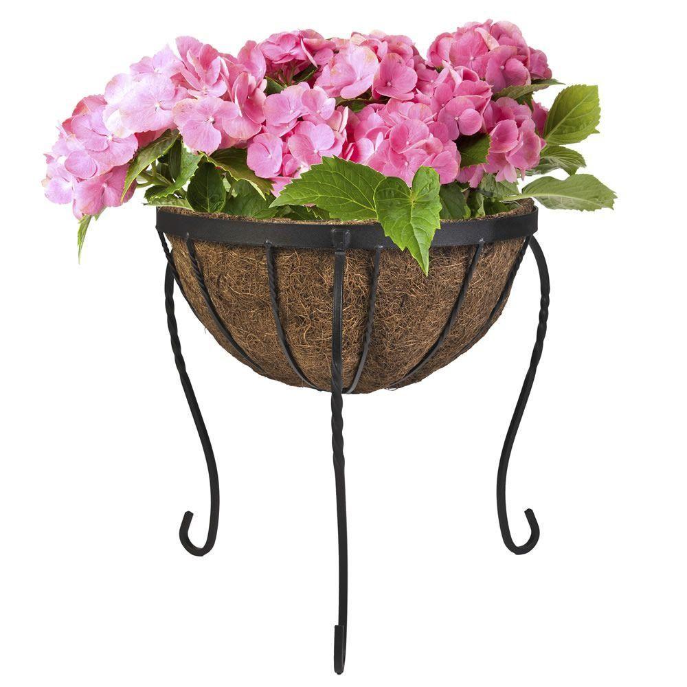 Cobraco canterbury 14 in metal basket stand planter
