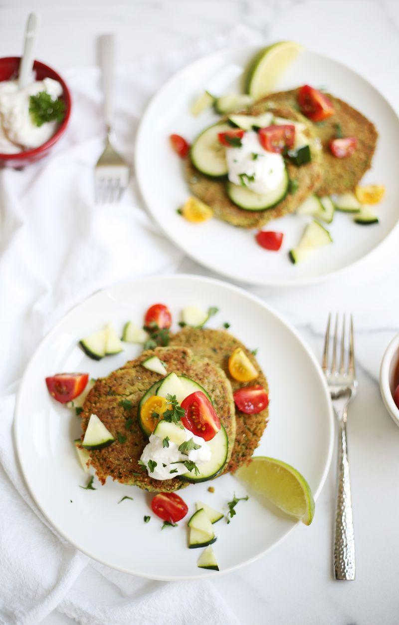10 Minute Falafel Cakes with Creamy Lemon Tahini Dressing vegan