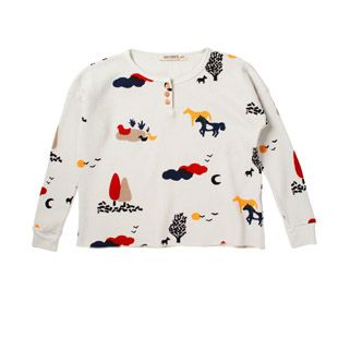 competitive price 5657e c643c x Bobo Choses LS Button Tee - Landscape | fashion the young ...