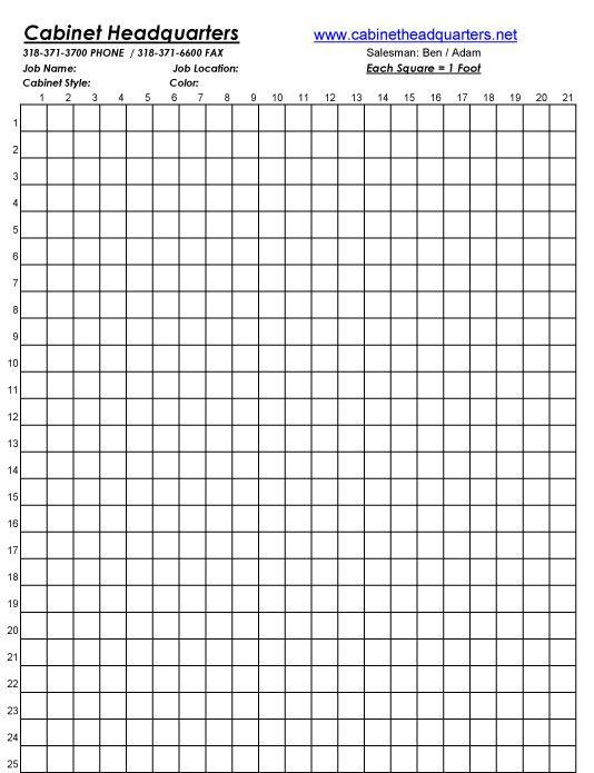Versatile image pertaining to printable kitchen layout grid