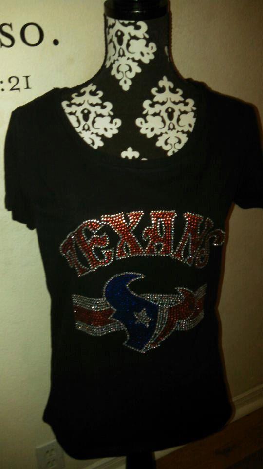 abc4bbcc Houston Texans inspired custom bling shirt by vlg257 on Etsy, $32.00 ...