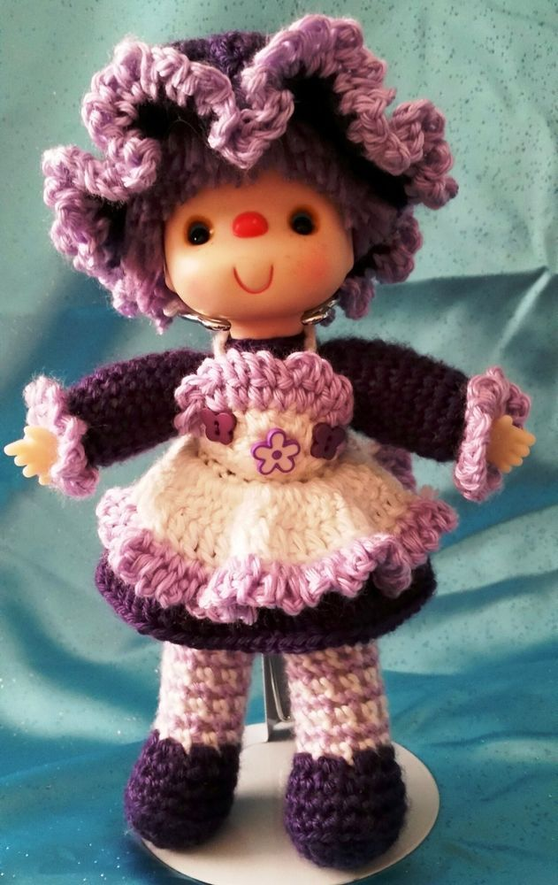 Adorable Vintage Style OOAK Hand Crocheted Doll - \