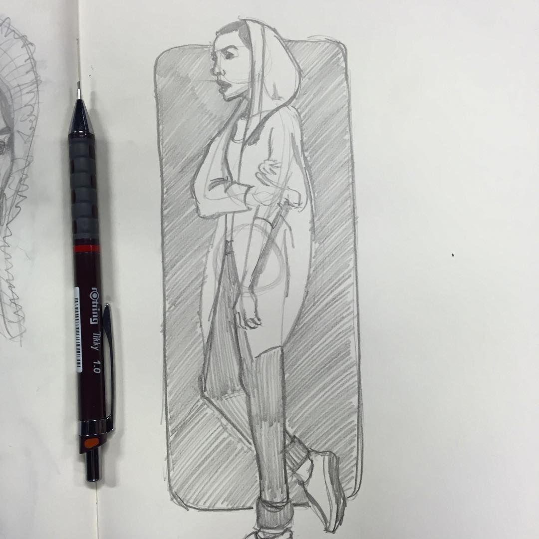 More lovely #lady #studies #study #moleskine #sketch #sketchbook #illustration #drawingoftheday