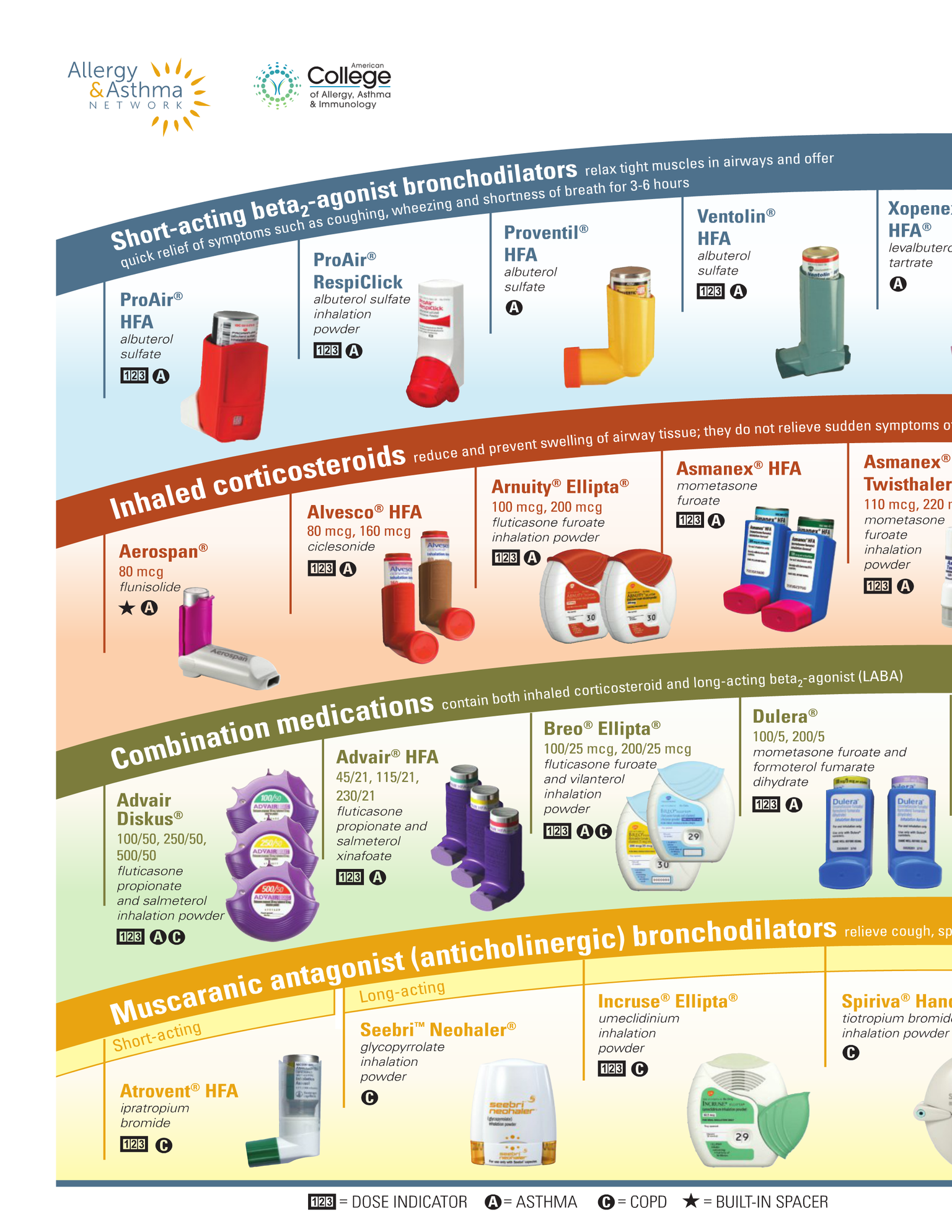 Respiratory Inhalers At A Glance Asthma Asthma Treatment Inhaler Asthma
