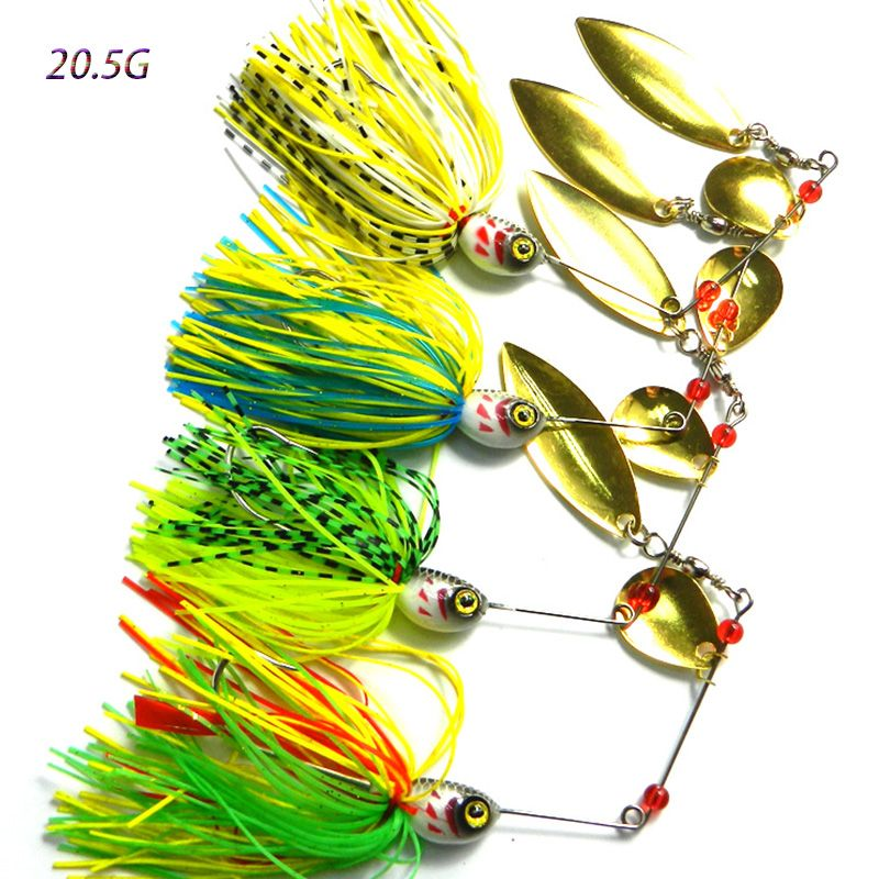 20.5G 50pcs japan fishing hooks lead head spinner spoon fishing lures buzzbait pike bass fishing baits pesca fishing tackles