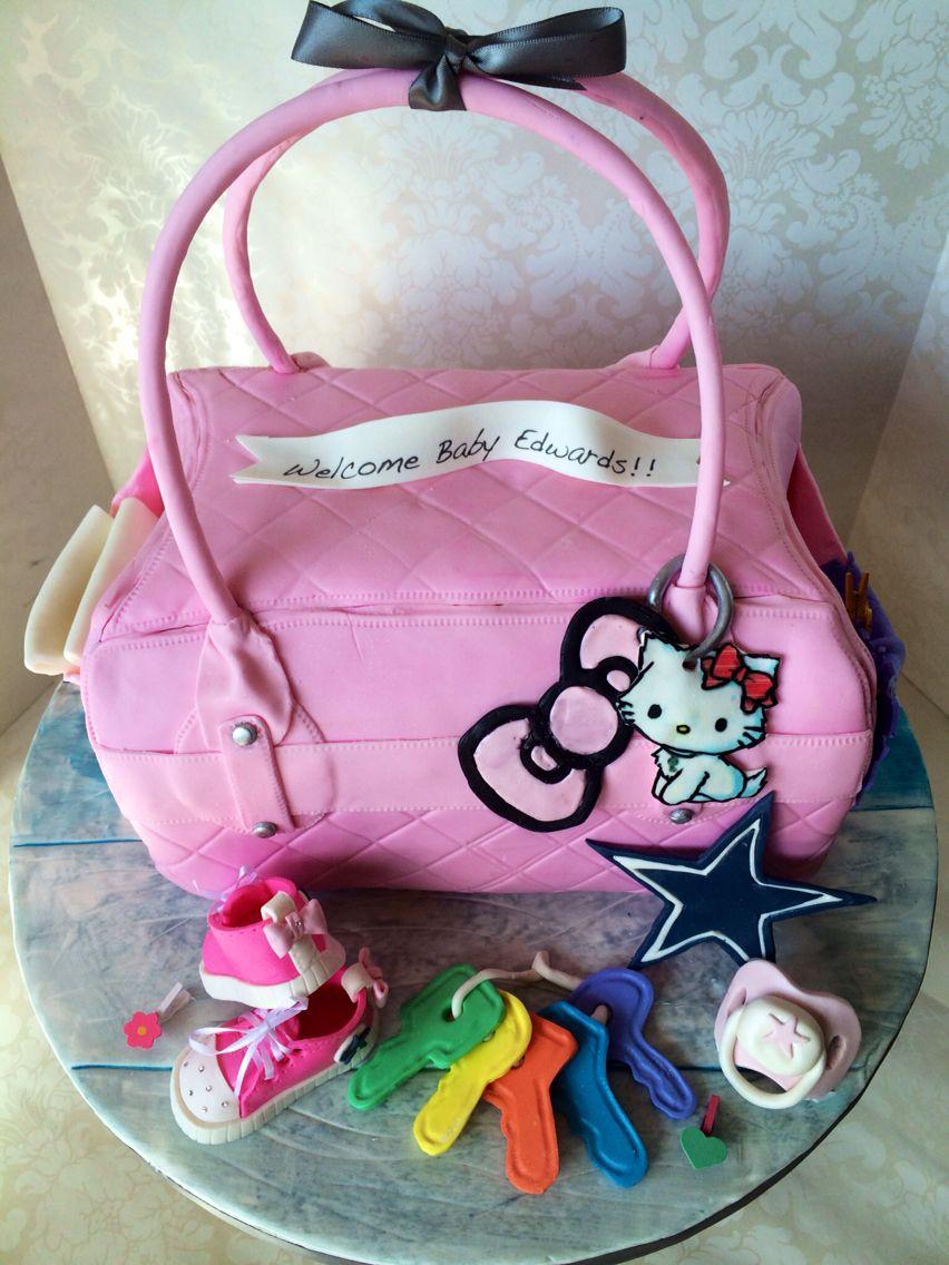 Hello Kitty Baby Bag Cake Hellokitty Babybag Babyshower