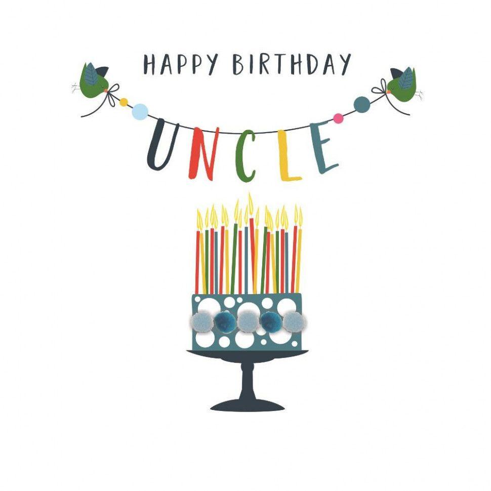 Happy Birthday Uncle Card Happy Birthday Uncle Happy Birthday Cards Birthday Cards