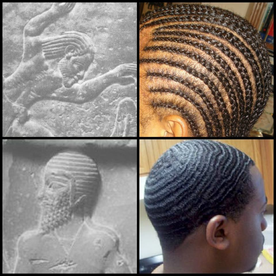 Cornrows African Hairstyle And Afro American Black