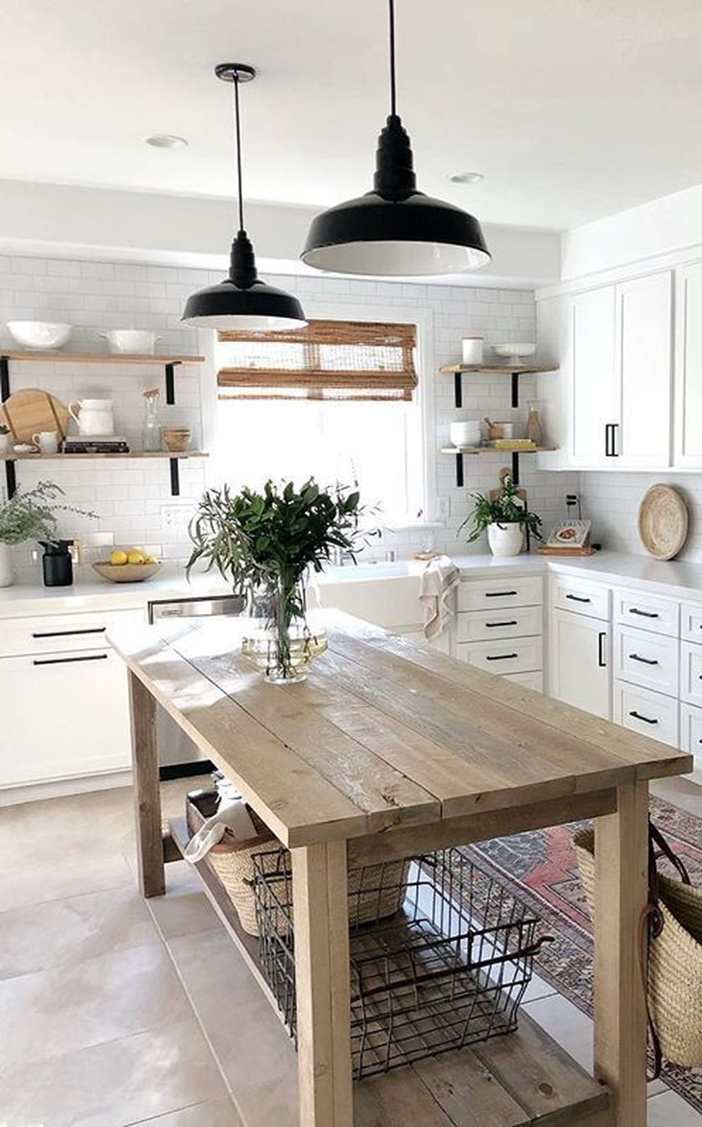 17 Popular Farmhouse Kitchen Wall Shelves Ideas With Most