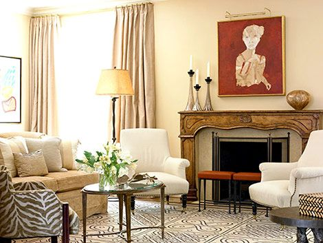 Modern Art Mix In This Living Room Newman Reeves Designs Via Traditional Home Magazine