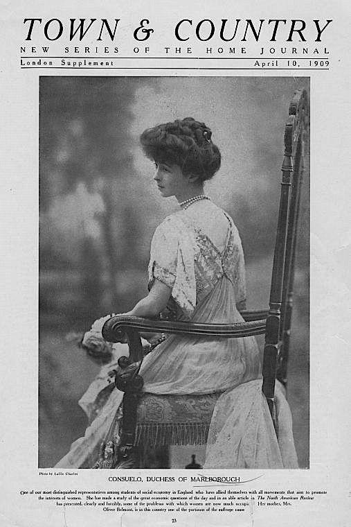consuelo vanderbilt town country london supplement 10 apr 1909 consuelo duchess of. Black Bedroom Furniture Sets. Home Design Ideas