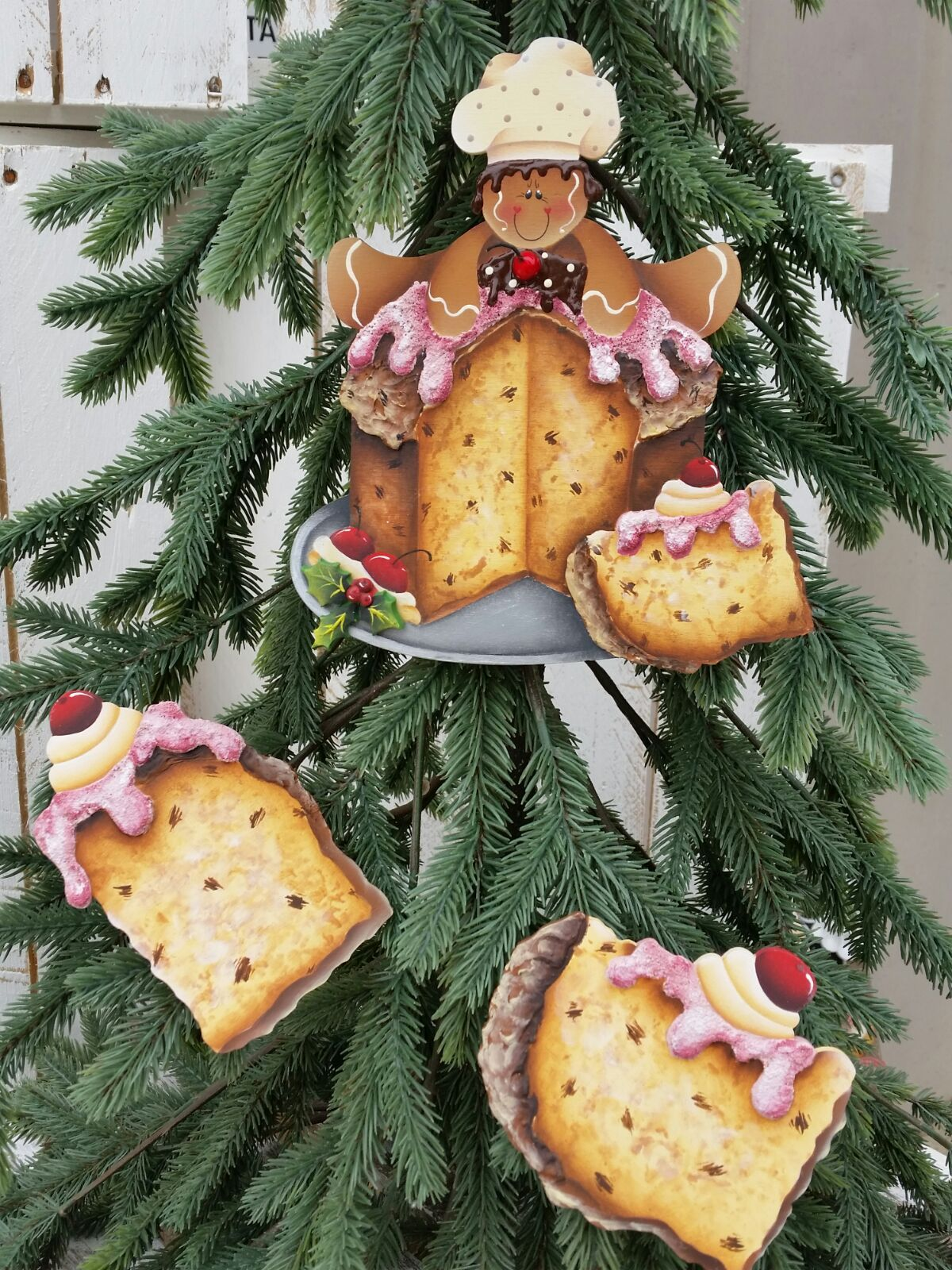 Pattern Ginger Sul Panettone - Gingerbread Ornaments - Pinterest -