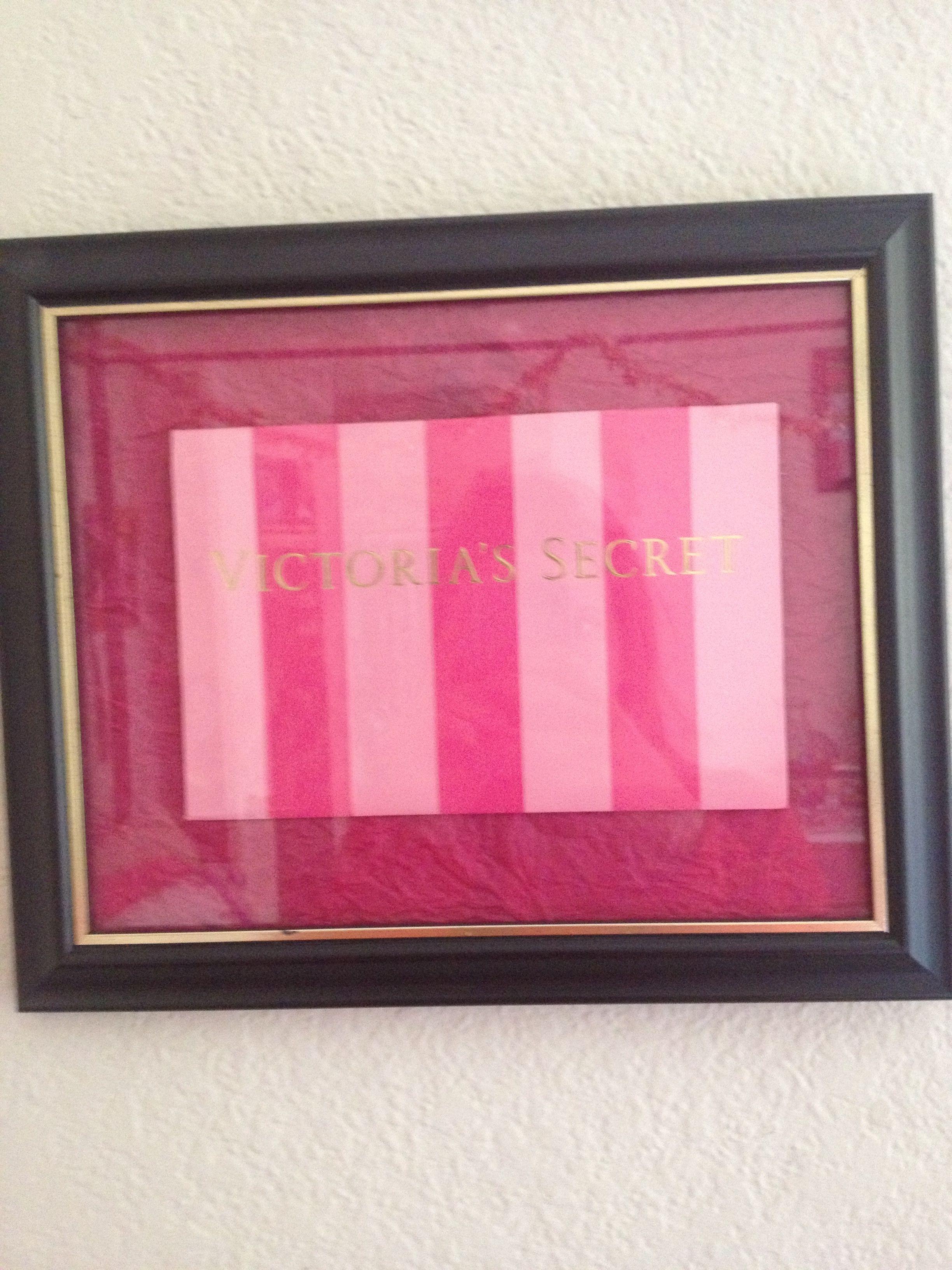 6d9386c5360e1 DIY Victoria secret bag fame for walk in closet | Home Decor Ideas ...