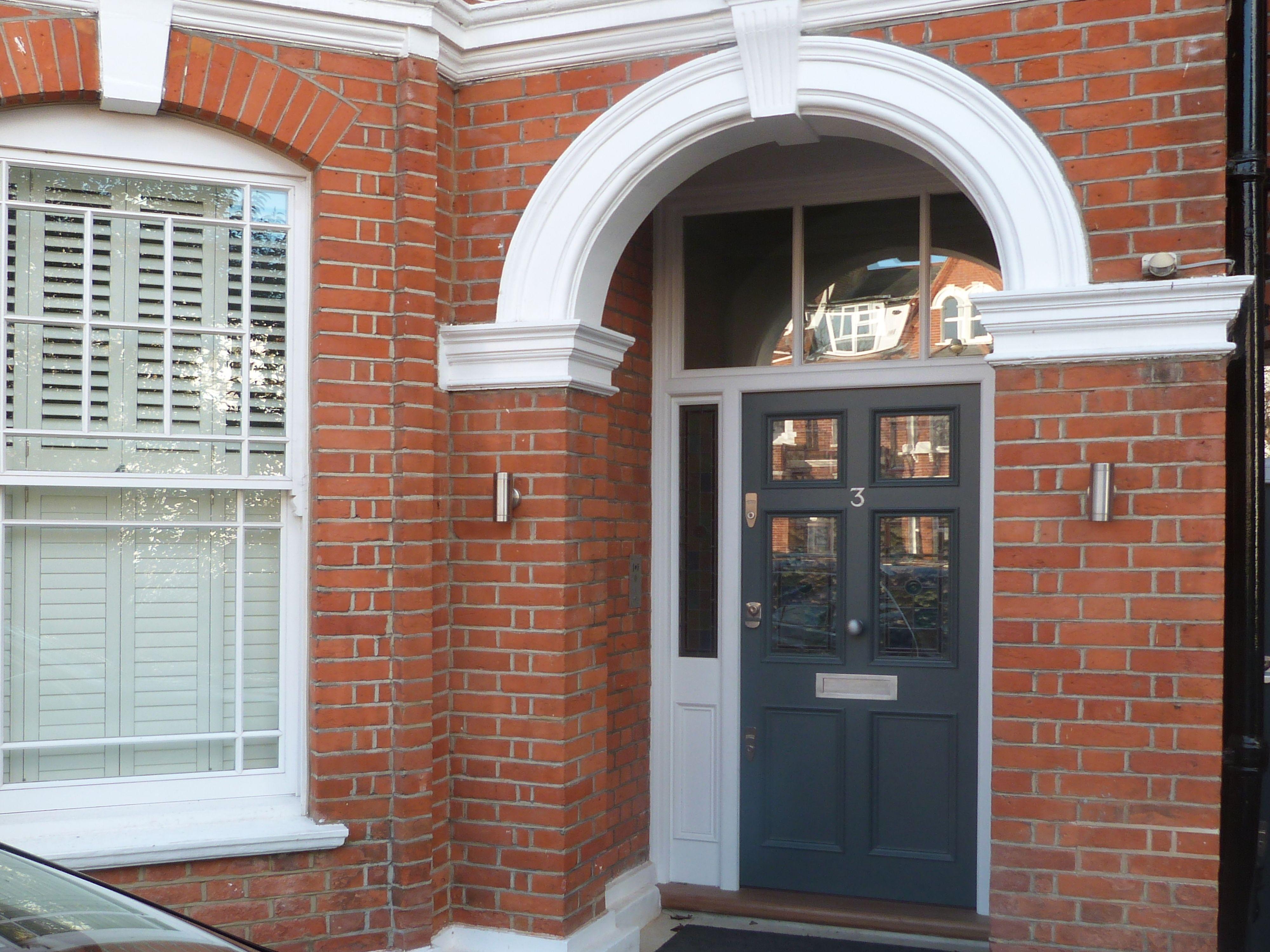 A Victorian front door with leaded light   Victorian front doors ...
