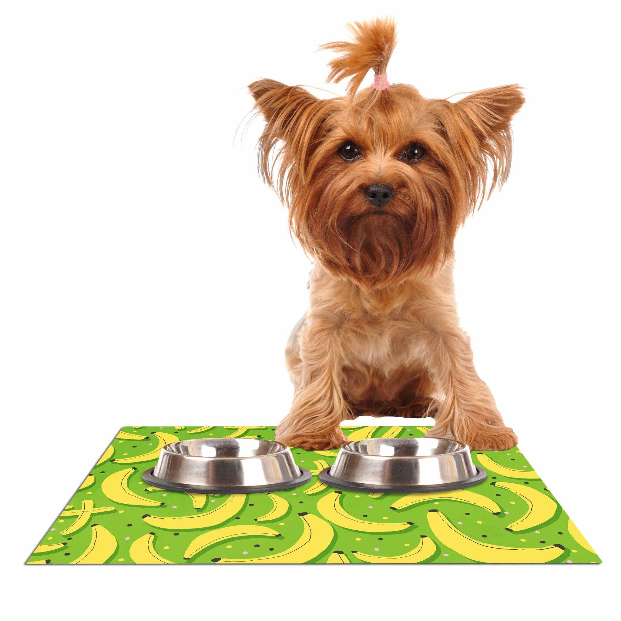 "Strawberringo ""Banana Pattern"" Abstract Food Dog Place Mat"