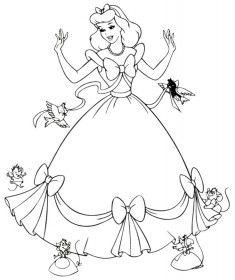 Prenses Boyama Sayfası Desene De Poveste Princesas Para Colorear