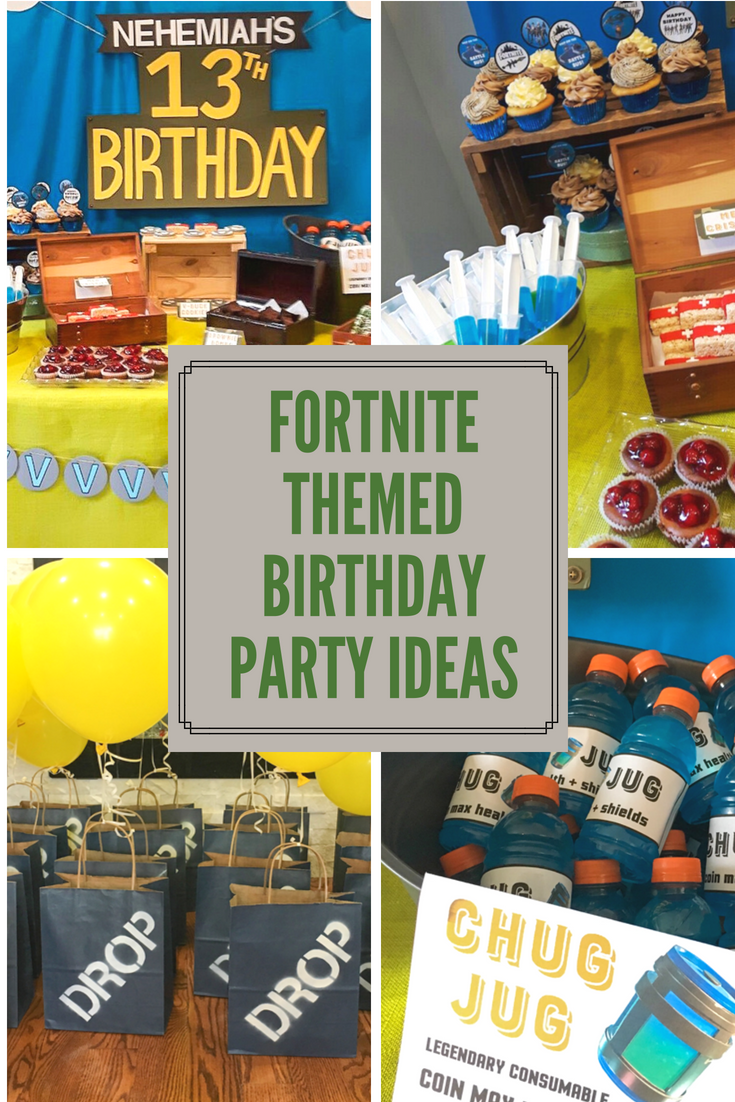 Fortnite Themed Birthday Party All Wrapped Up Events Video Games Birthday Party Boy Birthday Parties 10th Birthday Parties