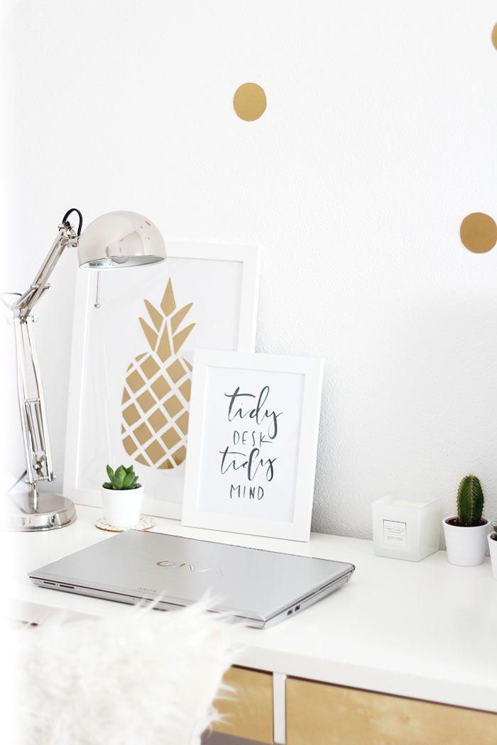 6 Blogger Im Office: 4 Tipps Für Einen Arbeitsplatz Zum Wohlfühlen +  Samsonite Giveaway. Schreibtisch OrganisationDiy SchreibtischSchlafzimmer  ...