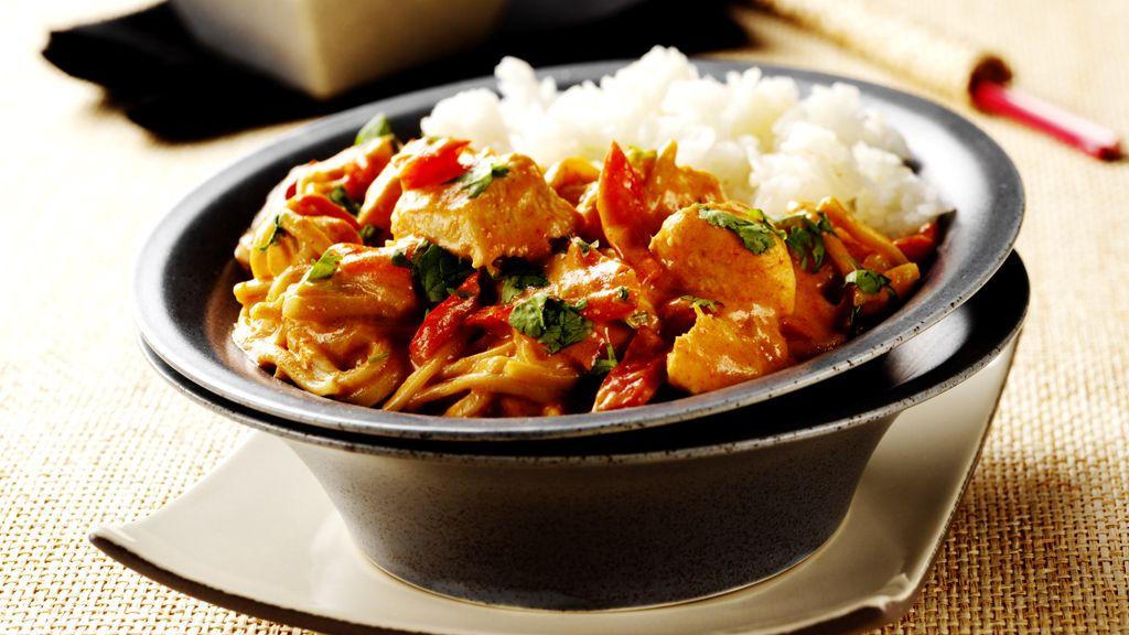 Curry-Huhn in Kokosmilch Ein Rezept für die Küchenmaschine