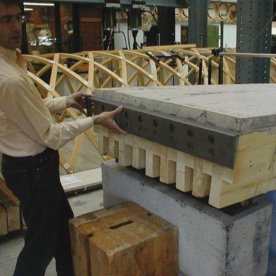 plancher mixte bois b ton de grande port e plancher bois beton et bois. Black Bedroom Furniture Sets. Home Design Ideas