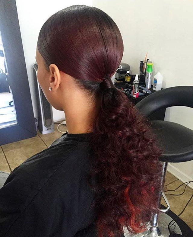 Natural Hair C Slick Back Ponytail