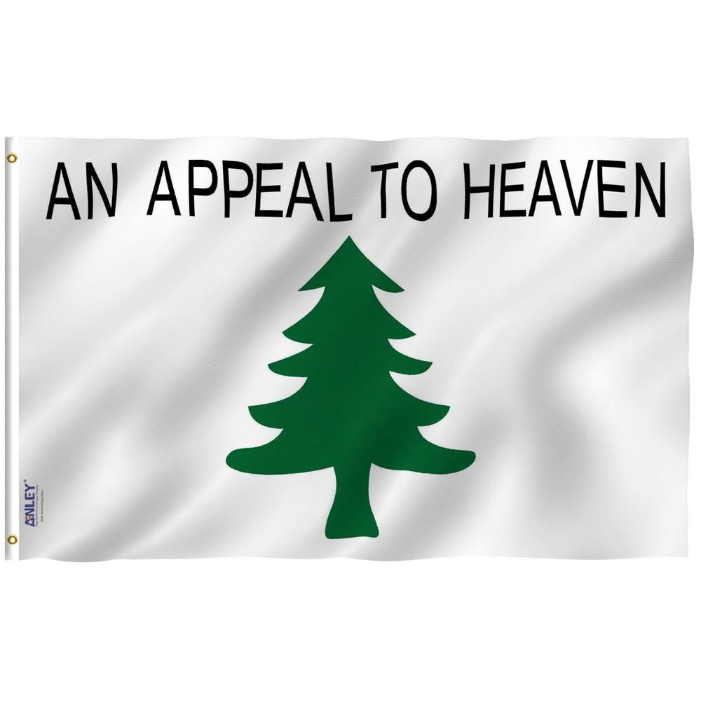 Anley Fly Breeze 3 Ft X 5 Ft Polyester An Appeal To Heaven Flag 2 Sided Flag Banner With Brass Grommets And Canvas Header Flag Banners House Flags Christian Flag