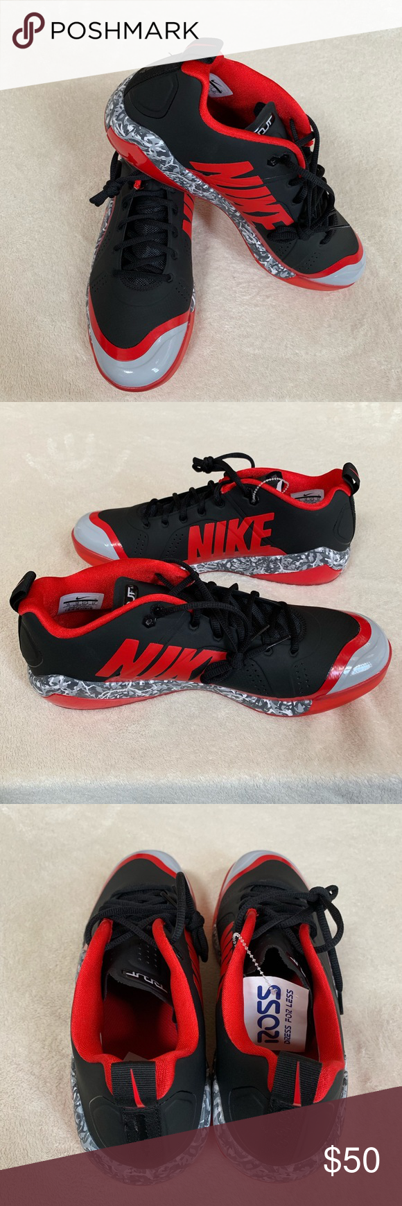 77f83d681a34c Nike Zoom Trout 4 Turf 917838-060 Black Red Grey Nike Zoom Trout 4 Turf  Trainer TF Baseball Shoes asg Black Red Gray Camo New without box size 13  917838-060 ...