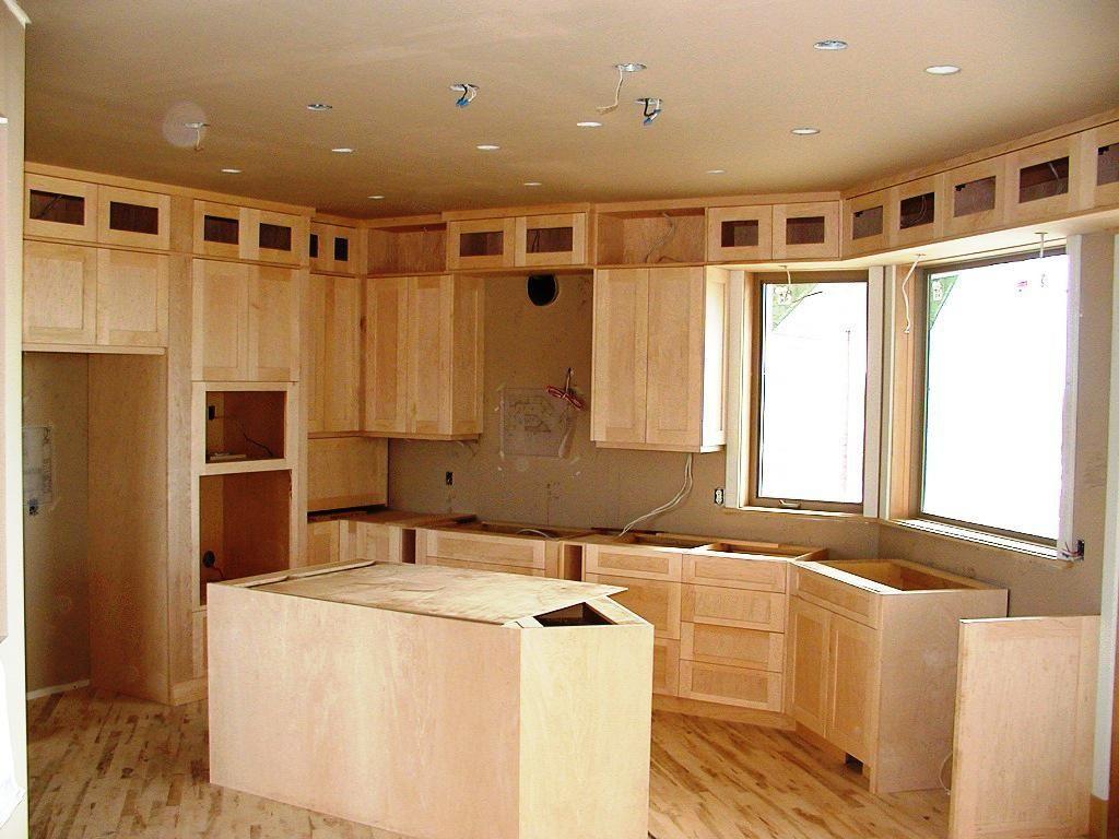 honey pine shaker unfinished kitchen cabinet doors eva furniture ...