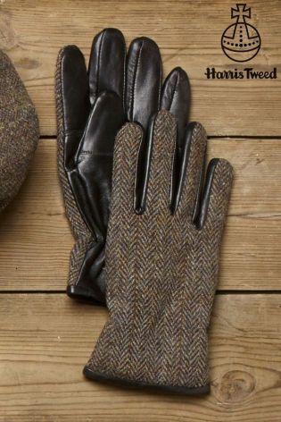 Buy Gloves With Harris Tweed Wool & Leather from the Next UK online shop