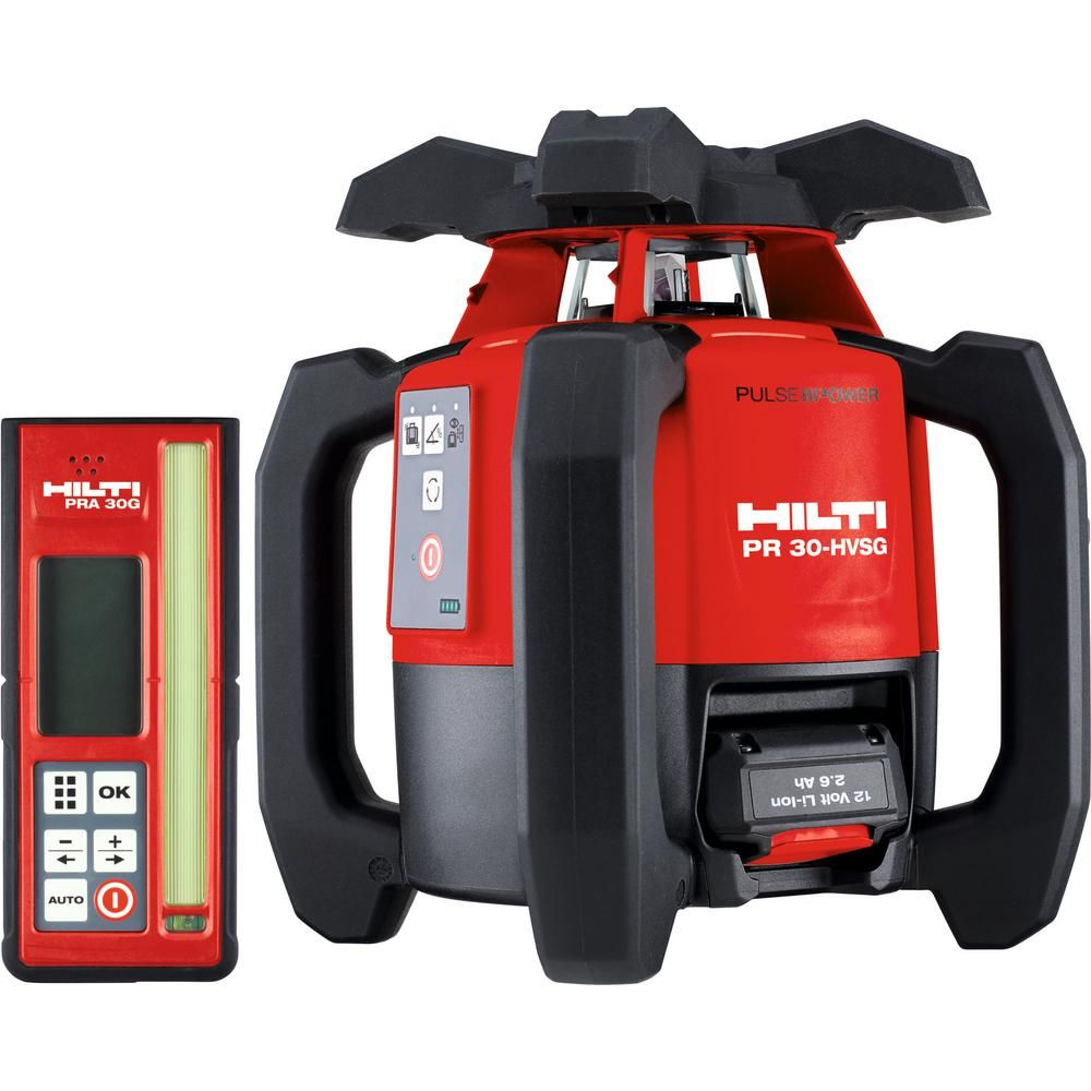 Hilti Pr 30 Hvsg A12 33 Ft Self Rotating Green Laser Level Including Lithium Ion Battery And Charger 3592643 Charger Electronic Recycling Recycling Programs