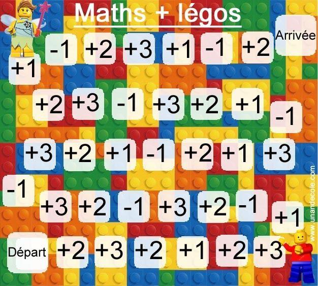 Jeu de calcul avec des légos - MS début CP | école | Lego ...