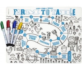 Mark Mat Farm To Table 4 Markers Placemats Kids Coloring Placemats Placemats