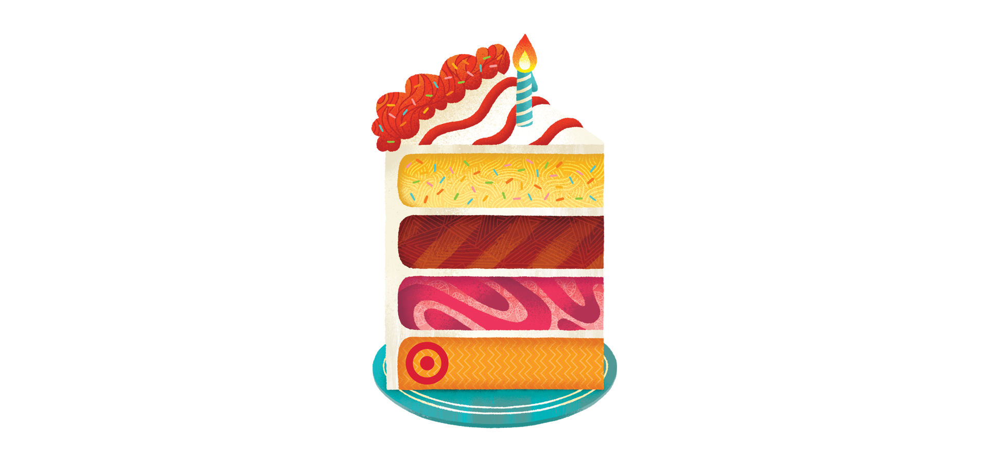 Target Birthday Cake Gift Card Illustration