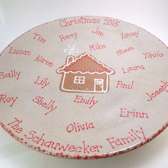personalized christmas platter family heirloom platter