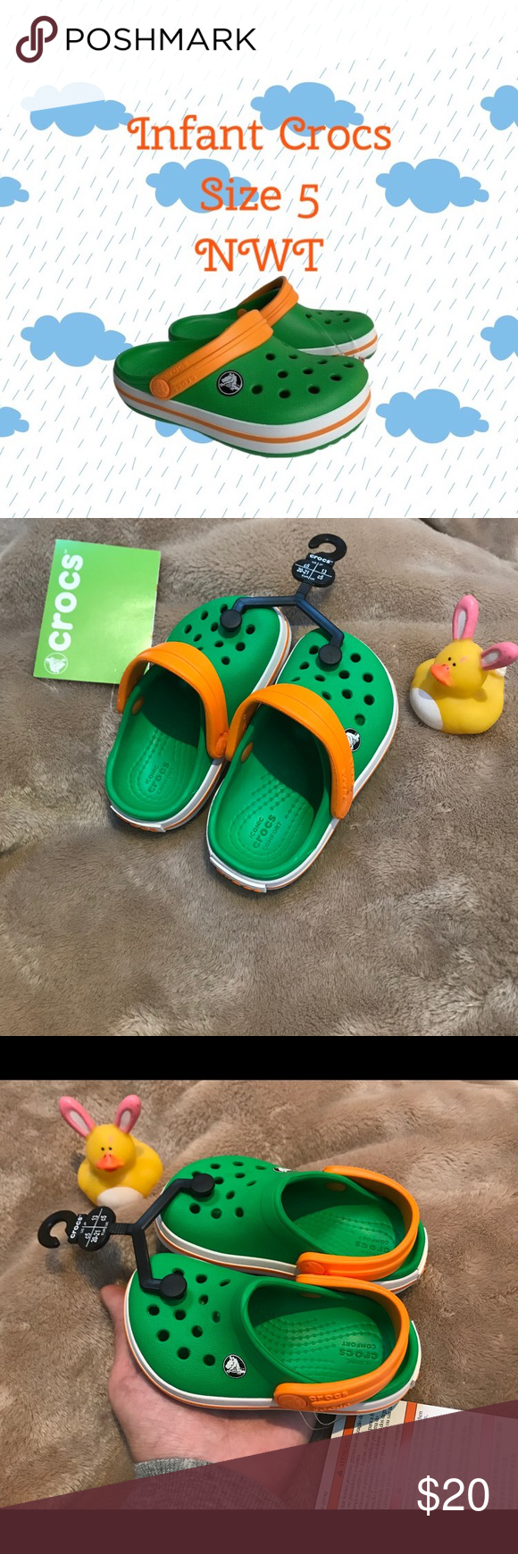 Infant Crocs 👣 👶 NEW WITH TAGS